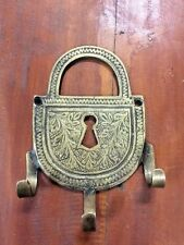 Bronze Wall Towel Key Hook Golden Vintage Patina