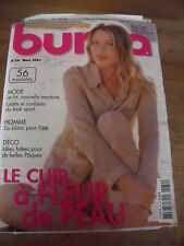MAGAZINE BURDA TENDANCES LE CUIR A FLEUR DE PEAU   N° 39   2003