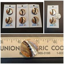 """Six (6) JHB Natural Materials Irredescent Shell Sew-through Buttons 3 Cards 1"""""""