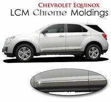 4PC ABS LCM CHROME BODY SIDE MOLDINGS FITS 2010-2016 CHEVROLET CHEVY EQUINOX