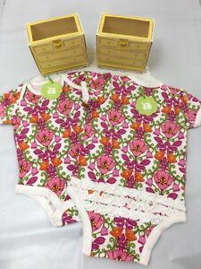 Vera Bradley Lilli Bell Baby 2 Ruffled Body Suits 0-3 & 9-12 month Gr8 Gift $56