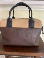 Fossil Erin Colorblock Leather Satchel Crossbody Bag Shoulder Purse. Perfect!