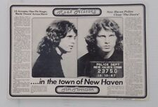 Genuine Vintage Postcard Music Jim Morrison In The town of New Haven Newspaper