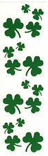Mrs. Grossman's Stickers - Shamrocks - St. Patrick's Day Green Clover - 4 Strips