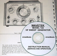 Wavetek 144 Sweep Generator Operating Amp Service Manual Withschematics