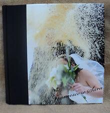 album fotografico PERSONALIZZATO con VOSTRA FOTO matrimonio nozze eventi  20x20