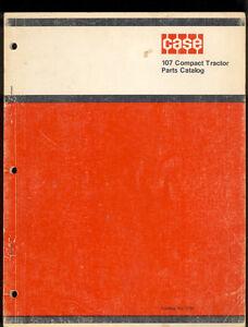 1971 J I CASE PARTS CATALOG  MODEL 107 COMPACT TRACTORS