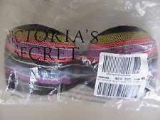 Victoria's Secret bikini top flirt bandeau pop stripe sequin VS 32C small $42