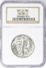 1941-S Walking Liberty Half Dollar - NGC MS-64 - Mint State 64