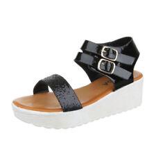Elegante Damen-Sandalen & -Badeschuhe aus Kunstleder Plateau
