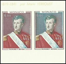 Monaco Tableaux Paintings Gemalde Honore V Essais Imperfs Proofs Slania ** 1977