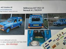 NEW DECAL1 43 RENAULT 4 L TROPHY RALLY DU MAROC