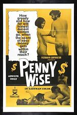 PENNY WISE * CineMasterpieces ORIGINAL MOVIE POSTER 1970 RARE ADULT X RATED PORN