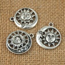 10pcs Wholesale Craft Crescent Moon Sun Charm Pendant Bead Jewelry Findings
