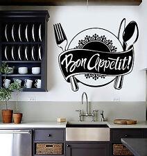 Vinyl Wall Decal Bon Appetit Kitchen Restaurant Chef Stickers (ig4538)