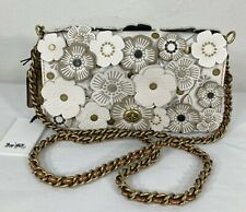 Coach 1941 Tea Rose Dinky Leather Shoulder Bag Crossbody Chalk White Gold 38197