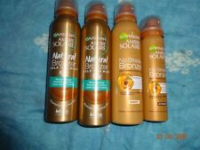 Garnier Ambre Solaire Natural Bronzer Quick Drying Self Tan Body Mist,x4