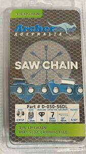 """16"""" Archer Chainsaw Saw Chain Homelite 3/8""""LP .050 56DL UT43122 UT431228 Y56 S56"""