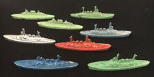 8 Vintage Crackerjack Tootsietoy Destroyers Ships Aircraft Carrier