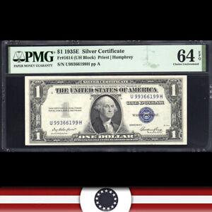 1935-E $1 SILVER CERTIFICATE *U-H Block*  PMG 64 EPQ  Fr 1614  U99366199H-WWZ