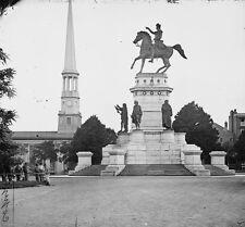George Washington Monument Richmond Virginia 1865 8x10 US Civil War Photo
