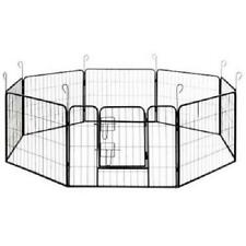 New listing Aleko Dk24X32 Heavy-Duty Pet Playpen Dog Kennel Exercise Cage Fence, 8-Panel, 32
