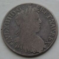 1656 France 1/2 Ecu 17thC Coin of Louis XIV 32mm 13.18g, KM# 164.24