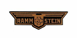 Rammstein Patch Hard Rock Industrial Gothic Metal Music Band Wings Logo