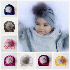 Handmade Infant Baby Girls Velvet Turban Hat Cap Beanie Knot Headband Head Wrap