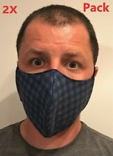Pack of 2 Antibacterial Nano Fabric Tech Reusable Washable Adult SBlue Face mask
