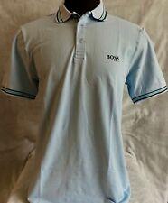 Hugo Boss Polo Men 100% cotton Regular fit color Pale Blue