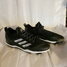 Adidas Power Alley Sz 12 Men's Baseball Cleats B39181 - Black, White (NEW)