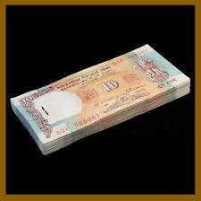 India 10 Rupees x 100 Pcs Bundle, 1992 P-88c Pinhole Staples Banknote Unc