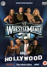 WWE WRESTLEMANIA 21 GOES HOLLYWOOD - 3-Disc Boxset - DVD *Wrestling*