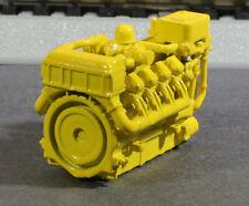 Ho Scale 1380Hp V8 Diesel Turbo Industrial Engine Model Rr Flatcar Load Yellow