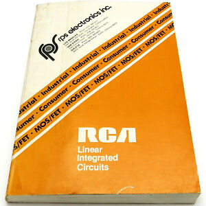 RCA LINEAR INTEGRATED CIRCUITS & MOS/FET's DATA BOOK Vintage 1977 Guide SSD-240