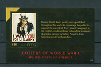 St Kitts 2015 MNH WWI WW1 Posters of World War I United States USA 1v S/S Stamps
