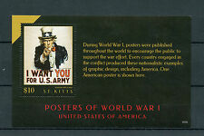St Kitts 2015 MNH Posters of World War I WWI United States America USA 1v S/S