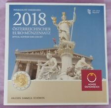 Euro Set Austria 2018 (3,88 Euro, The 2 Euro Currency is the Commemorative 2018)