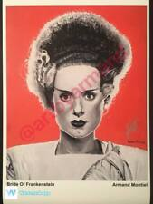 "Bride Of Frankenstein Painting art print Signed by artist 11""x17"""