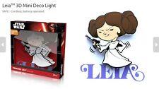 Official Star Wars Princess Leia 3D FX Deco Mini Wall Home LED Night Light