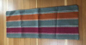 NWOT Pottery Barn Kilim Rug Lumbar Pillow 14x36 Wool Cotton Canvas