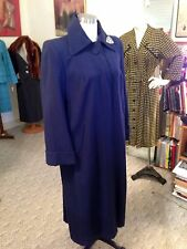 Vtg. Top Stitched Detailed Wool 1940's Swing Coat Jacket Size M/New Old Stock