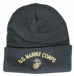 NEW United States USMC U.S. Marine Corps Knit Cap (Watch Cap), Black