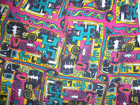 vintage Shorts 80er Jahre crazy pattern hose oldschool bermuda pants 80s XL