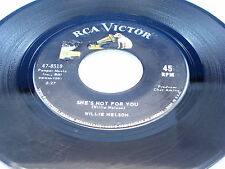 WILLIE NELSON - She's Not For You / Permanently Lonely - 1965 VG+/VG++