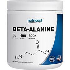 Nutricost Beta Alanine Powder 300 Grams - 3 Per Serving FREE Worldwide Shipp...