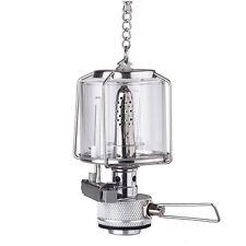 Mini Camping Lantern Gas Light Tent Lamp Torch Glass Lamp Chimney Butane CT E5K0