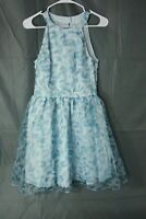 Disney Cinderella Collection Lauren Conrad Bow Back Dress Blue Floral Size 6 EUC