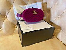 Authentic Gucci Purple Velvet Marmont GG Belt Bag BNWT 75cm - 30Inches